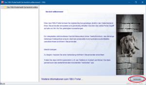 Erstmalige Startseite beim Mandanten nach Installation des obigen Links mittels Web-Browser.